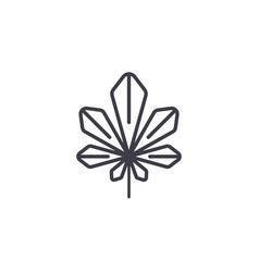 laurel leaf line icon concept laurel leaf flat vector image