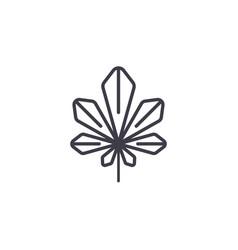 laurel leaf line icon concept laurel leaf flat vector image