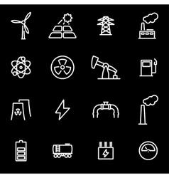 Line energetics icon set vector