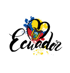 logo for ecuador country fridge magnet vector image
