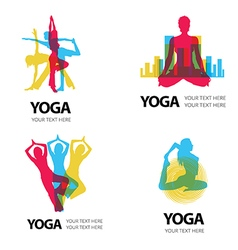 Logo Yoga vector image