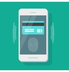 Mobile phone payment security credit card vector image