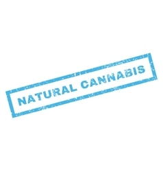 Natural Cannabis Rubber Stamp vector