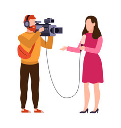 newscaster and journalist profession operator in vector image