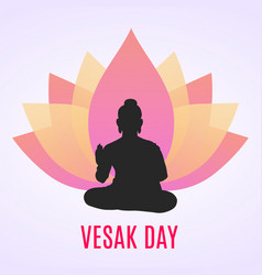 Of happy vesak day or buddha purnima vector
