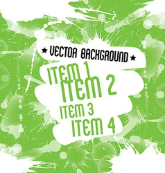 Paint splatters over green background dirty art vector