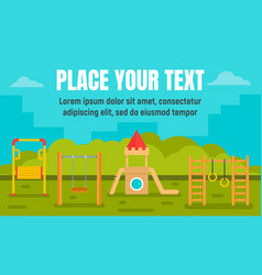 park kid playground concept banner flat style vector image