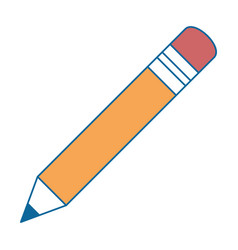 pencil school isolated icon vector image