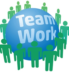 People work in teamwork team vector image