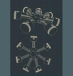 Piston block a radial engine vector