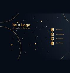print business card golden luxury vector image