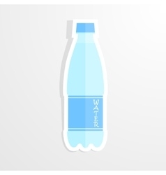 Realistic paper sticker water bottle Isolated vector image