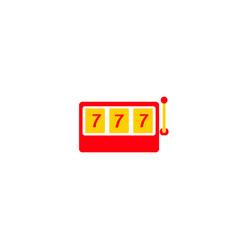 red slot machine icon vector image
