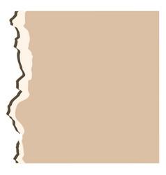 Retro piece of paper deisgn vector