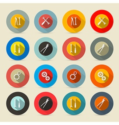 Retro tools buttons - icons set vector