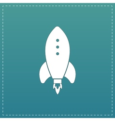 Rocket Icon sign and button vector