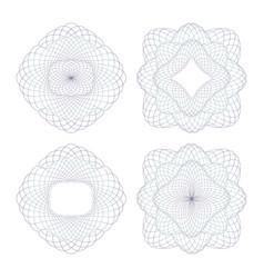rosettes decorative vector image
