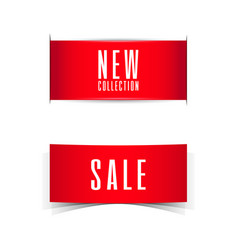 sale and new collection banner ribbon vector image