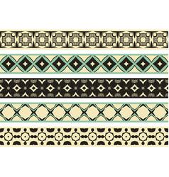 Seamless decorative borders vector