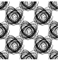Seamless pattern with brush doodle circle vector
