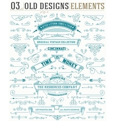 Set elements and banners and layered vector