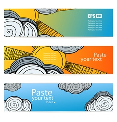 Set weather information banners vector