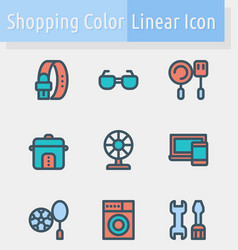 shoping color line icon2 vector image