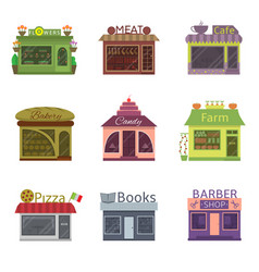 shops and restaurants vector image