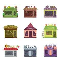 shops and restaurants vector image