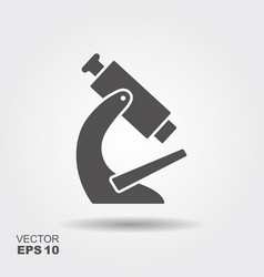 simple flat icon microscope vector image