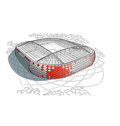 Sketch of the new stadium in moscow vector