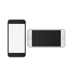 Smart phone black and white in portrait landscape vector