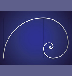 The fibonacci spiral eps 10 vector