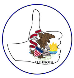 Thumbs up illinois vector