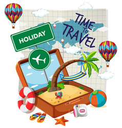 time to travel template vector image