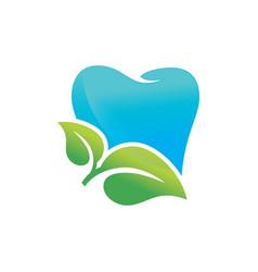 tooth dental logo design vector image