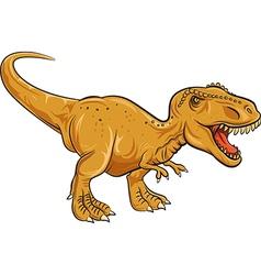 Tyrannosaurus rex character isolated vector