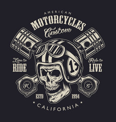Vintage monochrome motorcycle logo concept vector