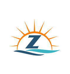 Wave sunset initial z vector