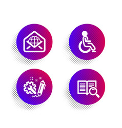 Web mail engineering and disabled icons set vector