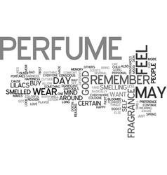 why do people buy perfume text word cloud concept vector image