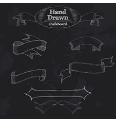 Chalkboard Banner and Ribbon vector image