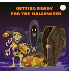 Get ready to celebrate Halloween vector image vector image