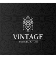 vintage decor label ornament background emblem vector image vector image
