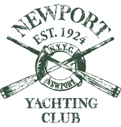 Yachting Club vector image vector image