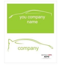 Car silhouette on a white background vector image