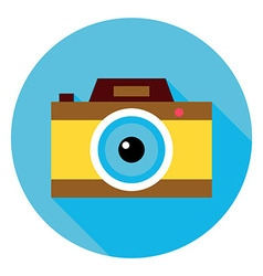 Photo Camera Circle Icon vector image vector image