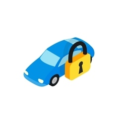 Car under arrest icon isometric 3d style vector image