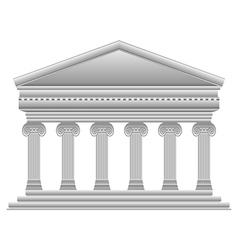 Ionic Greek temple vector image vector image