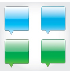 sms buttons vector image vector image